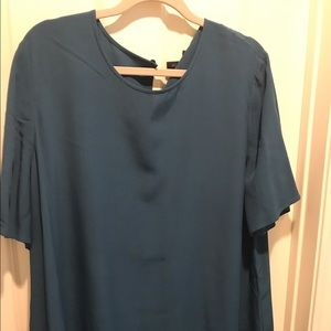 Eileen Fisher Peacock Blue tunic dress